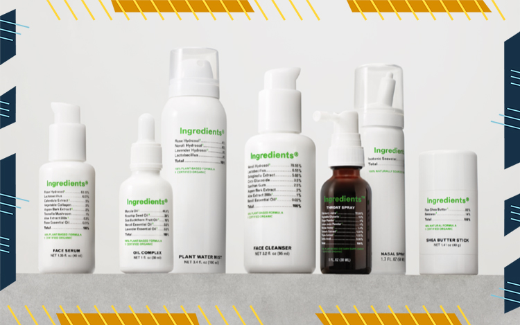 ingredients skincare line