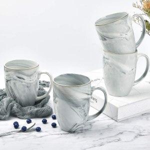 marble coffee mug set