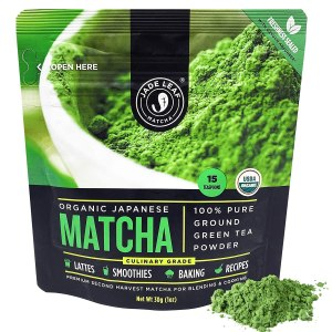 JAde leaf matcha tea powder, coffee alternatives
