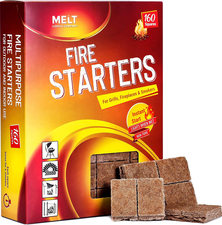 melt fire starter squares