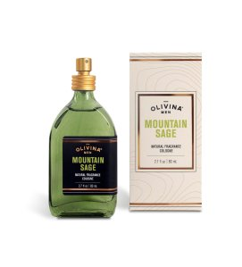 mountain sage cologne, men's natural grooming products