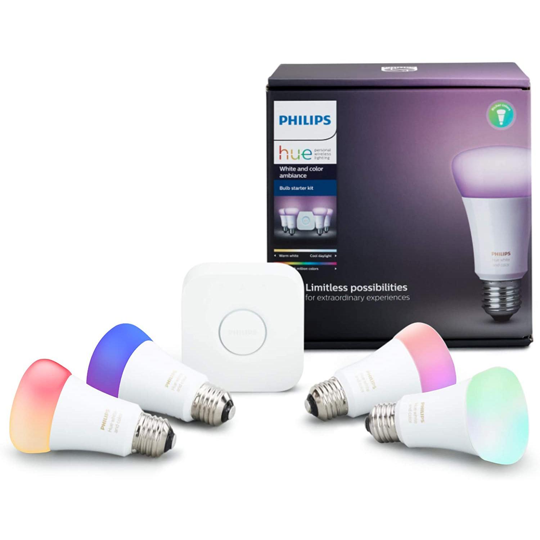 Philips Hue Color Smart Bulb Starter Kit