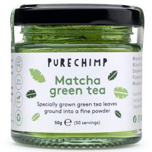 PureChimp matcha green tea powder, coffee alternatives