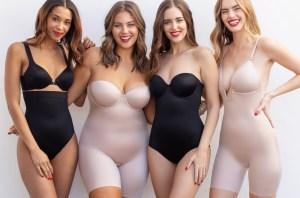 models wearing spanx undergarments