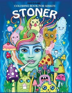 stoner coloring book, funny coloring book