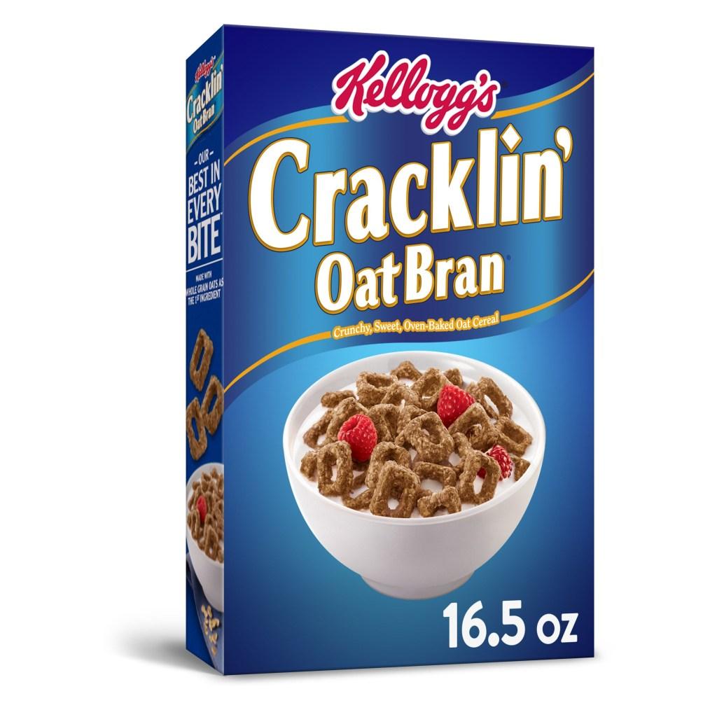 Kellogg's Cracklin' Oat Bran, Best High Fiber Cereals For Snacking and Breakfast