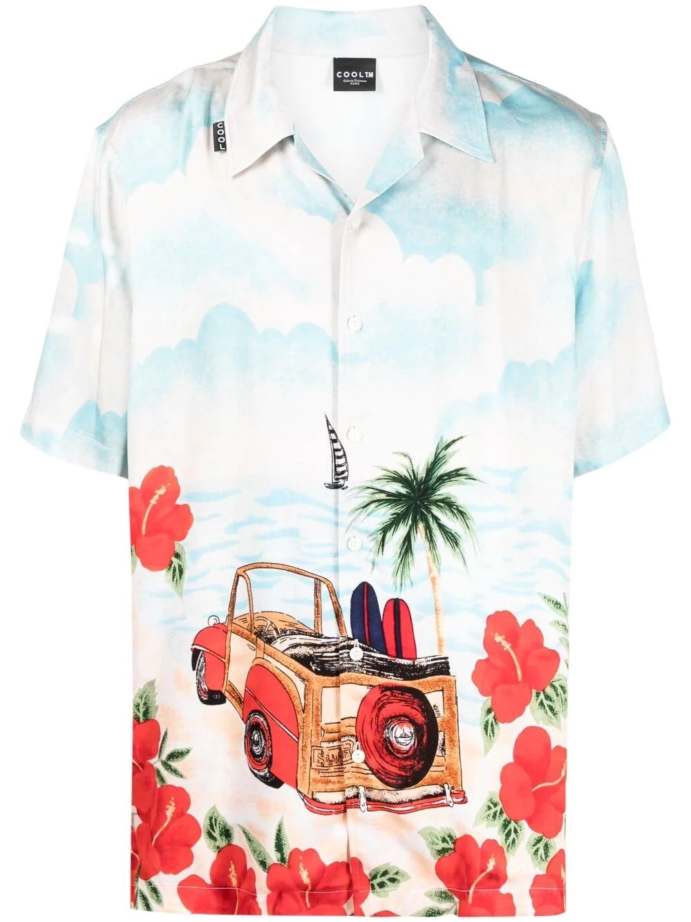 COOL.TM Tropical-Print Hawaiian Shirt