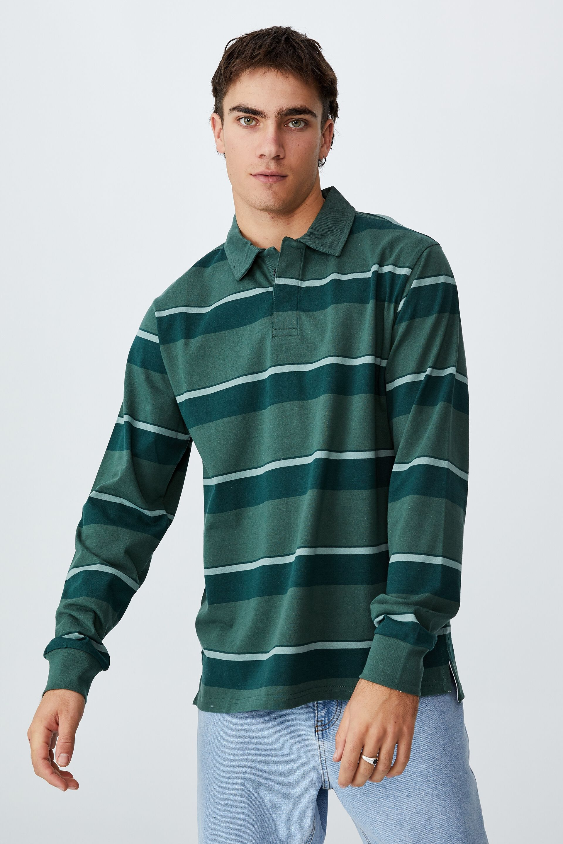 Cotton On Rugby Long Sleeve Polo