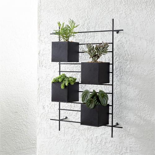 4 box wall mounted planter