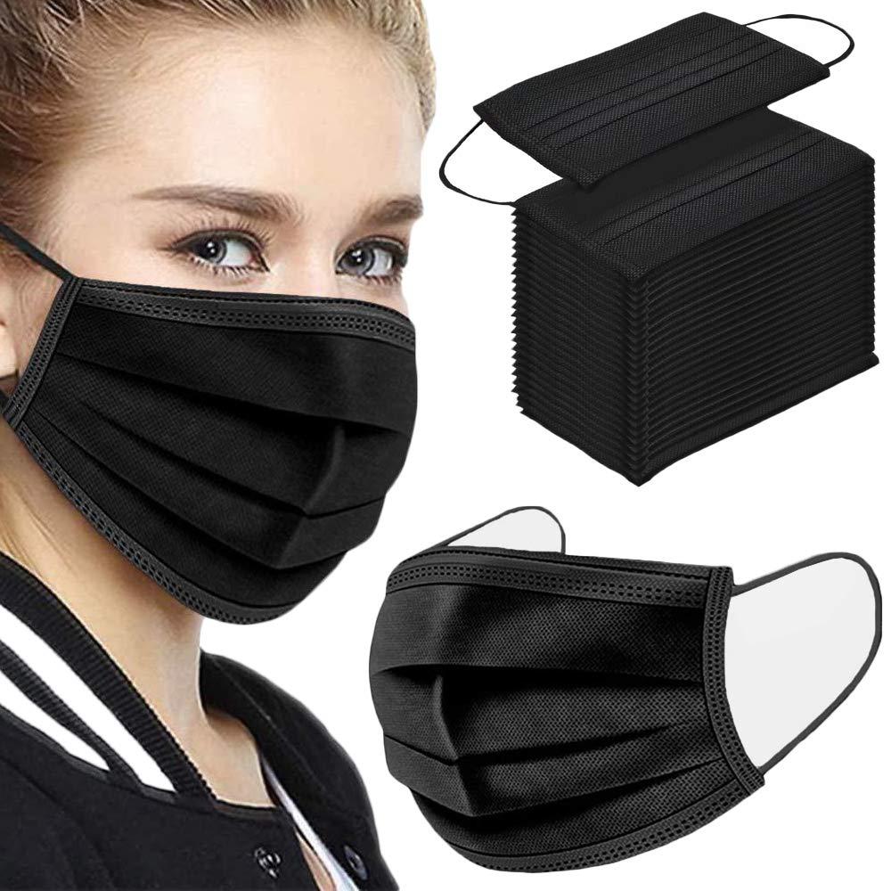 NNPCBT Black Disposable Face Mask