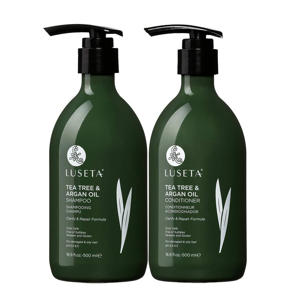 Luseta Tea Tree & Argan Oil Shampoo & Conditioner Set