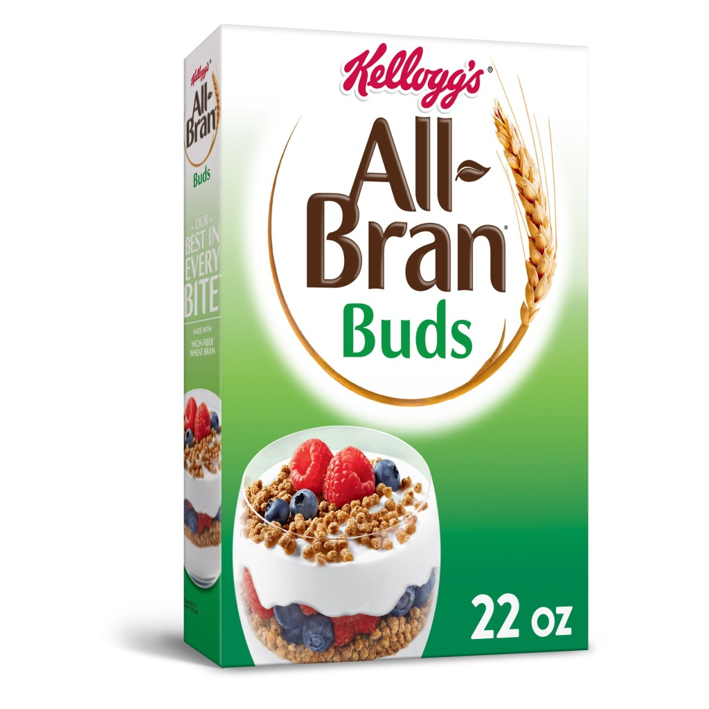Kellogg's All-Bran Buds, Best High Fiber Cereals For Snacking and Breakfast