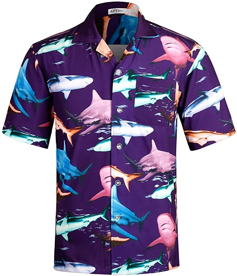 APTRO Casual Hawaiian Shirt