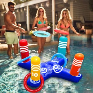 Inflatable Pool Ring Toss Pool Game