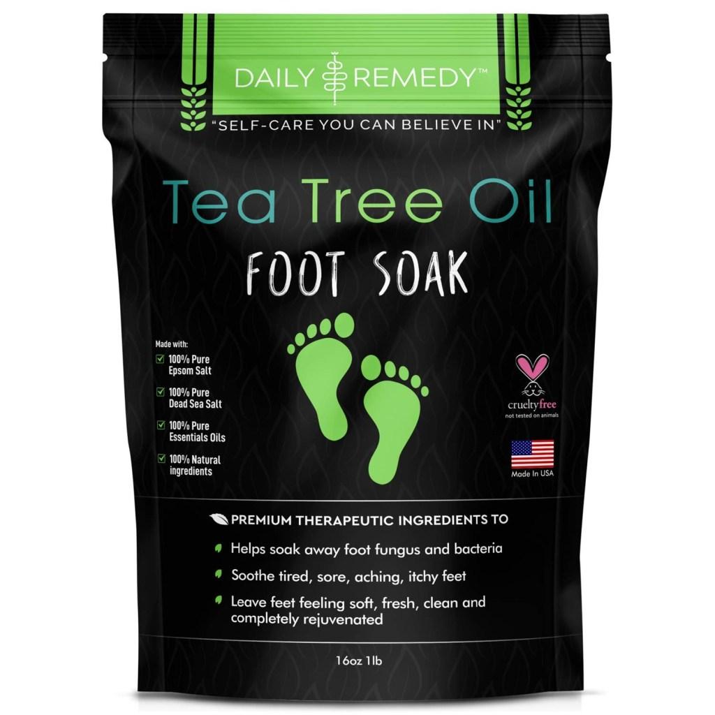 Tea Tree Oil Foot Soak with Epsom Salt, Best Athlete's Foot Cream