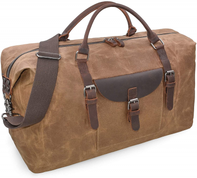 oversized leather duffle bag