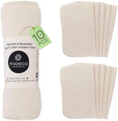 Mioeco Reusable Bamboo Unpaper Towels