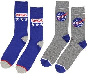 Buzz Aldrin NASA logo crew socks, best NASA merch