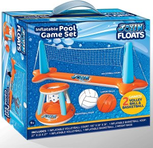 Inflatable Pool Float Set, best swimming pool games