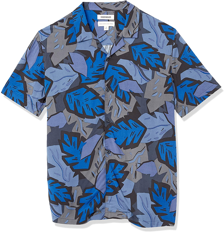 Amazon Brand Good Threads Standard Fit Hawaiian Shirt