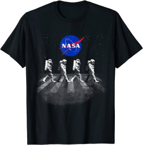 NASA walking astronauts t-shirt, best NASA merch