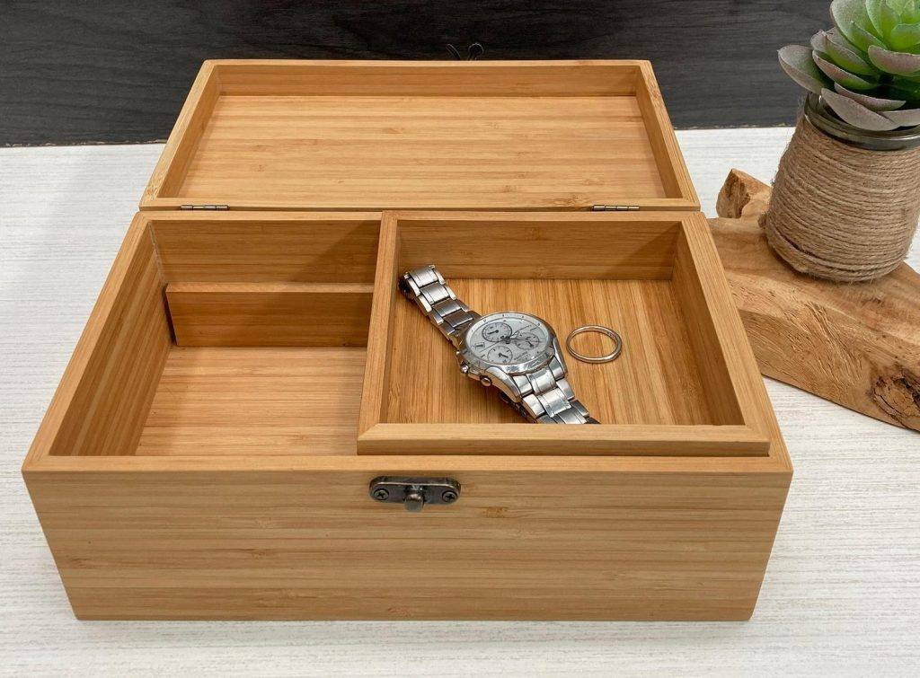 Personalized Bamboo Box by Chic Rustic