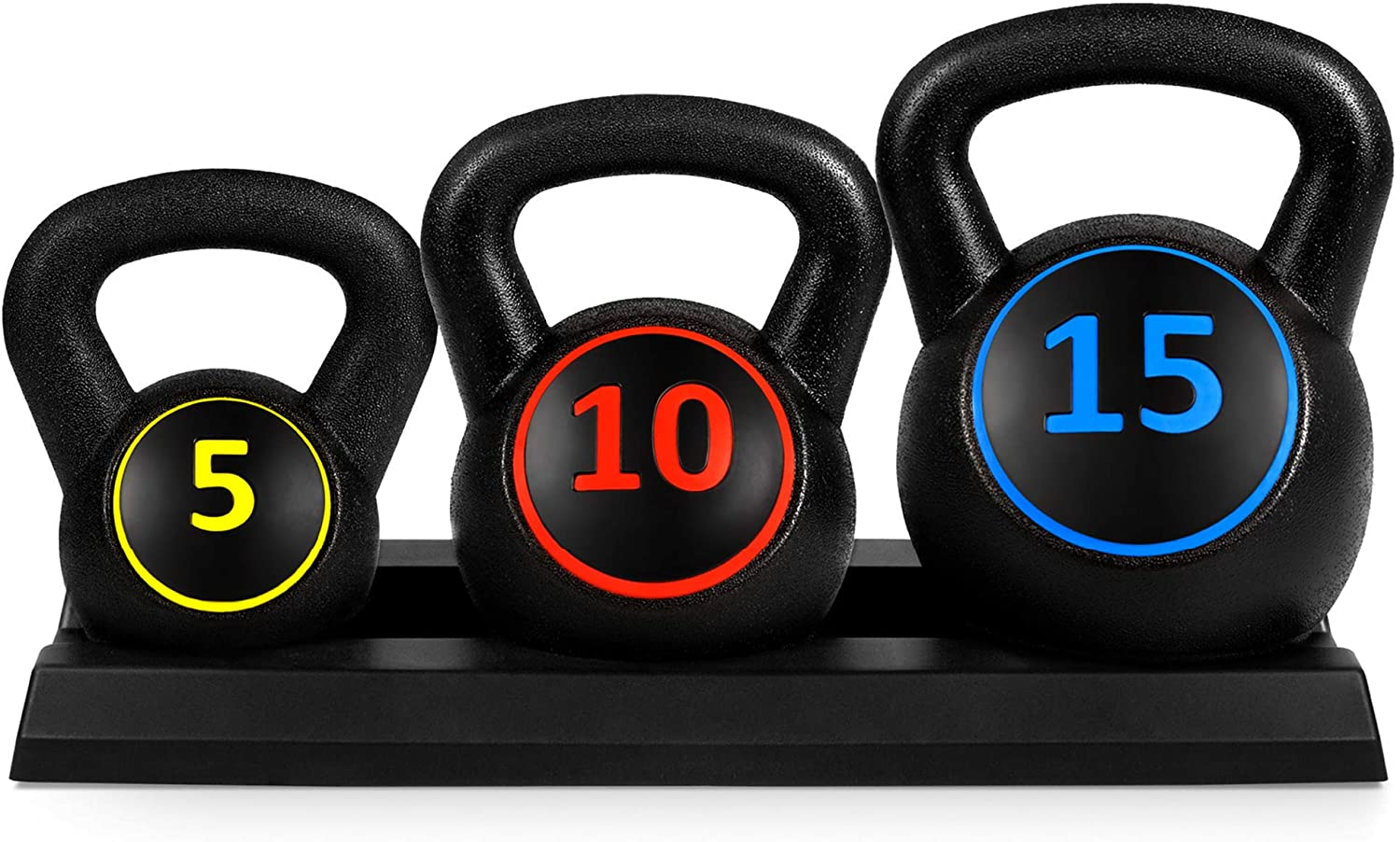 Best Choice Products Kettlebell Set with 5, 10 and 15 pounds