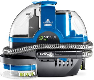 bissell spotbot pet handsfree spot and stain cleaner, best upholstery cleaner