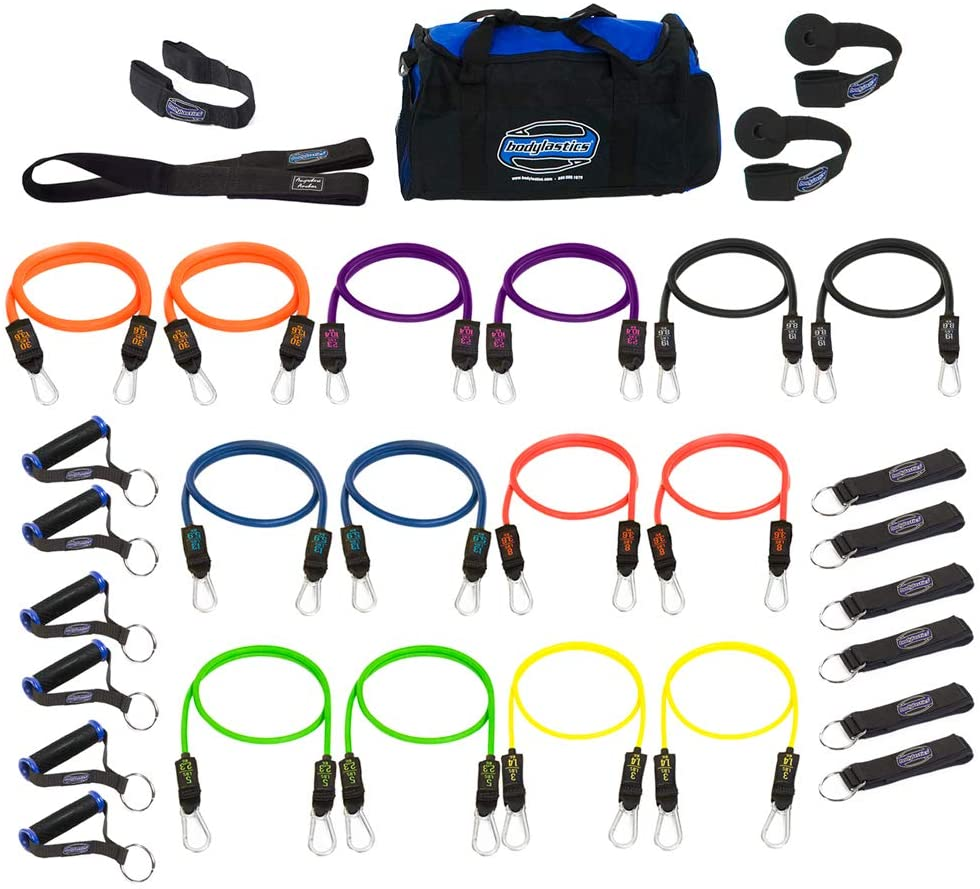 Bodylastics Resistance Bands Set with handles, anchors, bands and bag