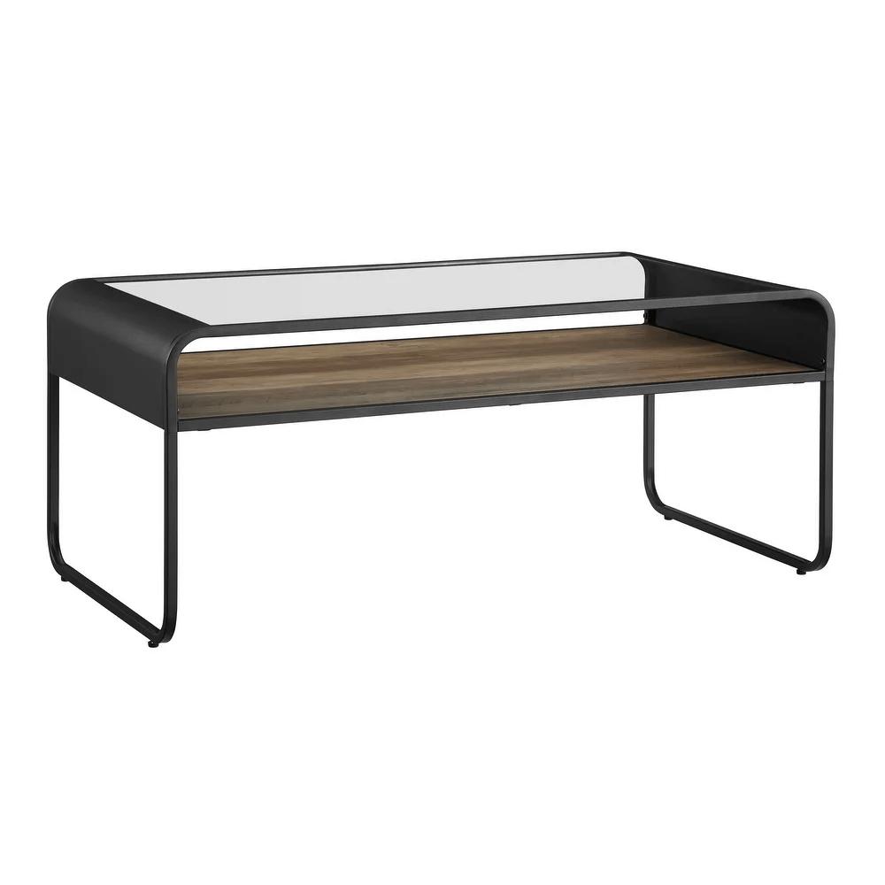 carbon loft reversible shelf coffee table