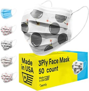 ceemly printed disposable face mask