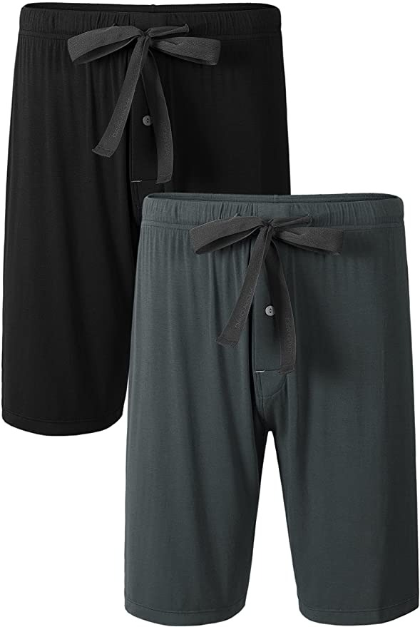 DAVID ARCHY Men's 2 Pack Sleep Shorts