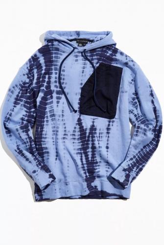 David Catalán Shibori Tie Dye Hoodie Sweatshirt