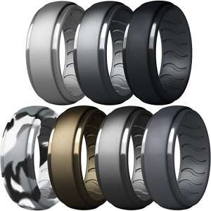 dookeh breathable mens silicone rings