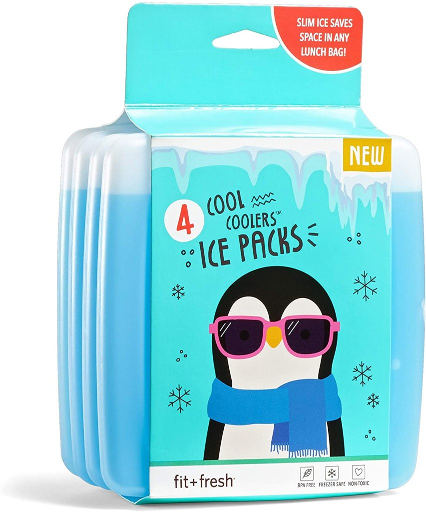 Fit & Fresh Cool Coolers Reusable Ice Packs