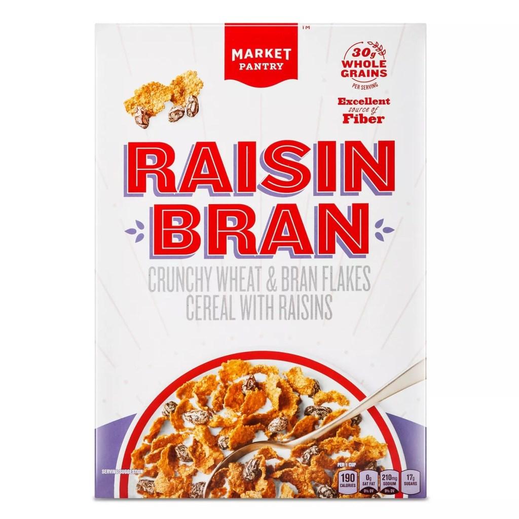 Market Pantry Raisin Bran, Best High Fiber Cereals