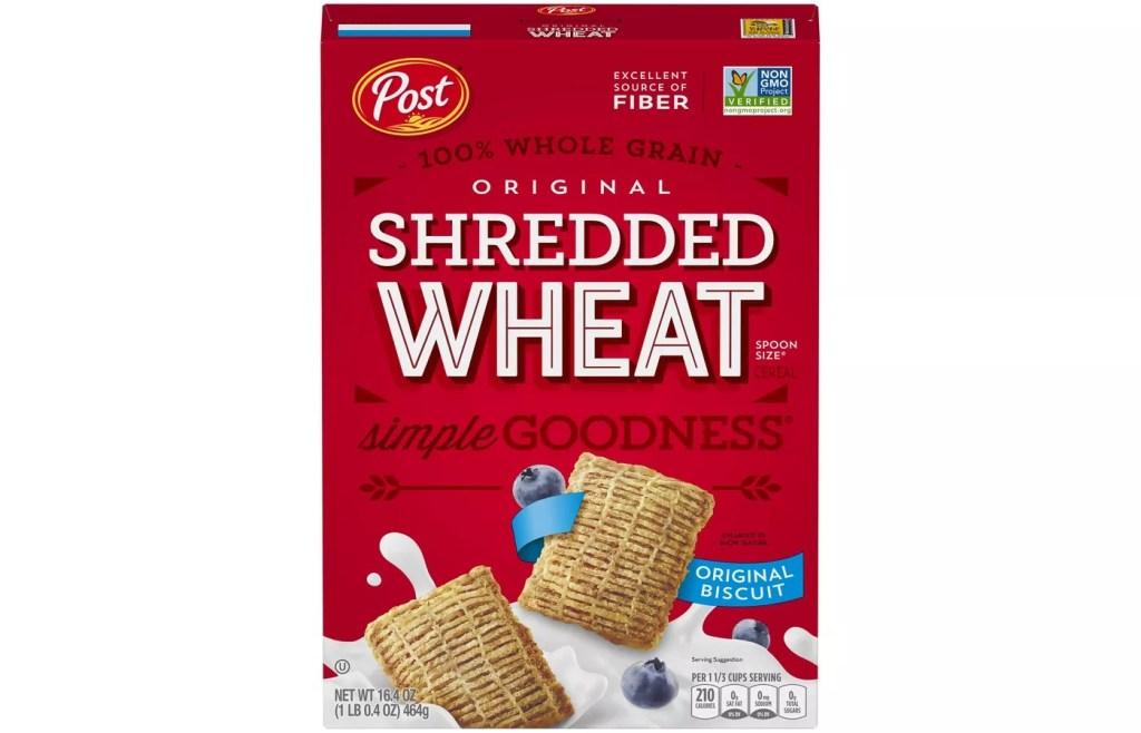 Post Shredded Wheat, Best High Fiber Cereal