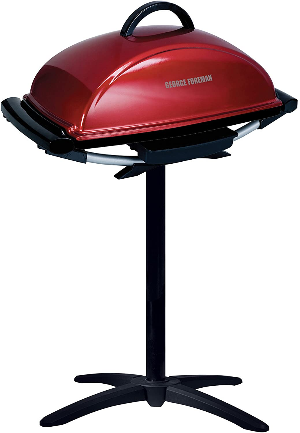 George Foreman Rectangular Electric Grill in red