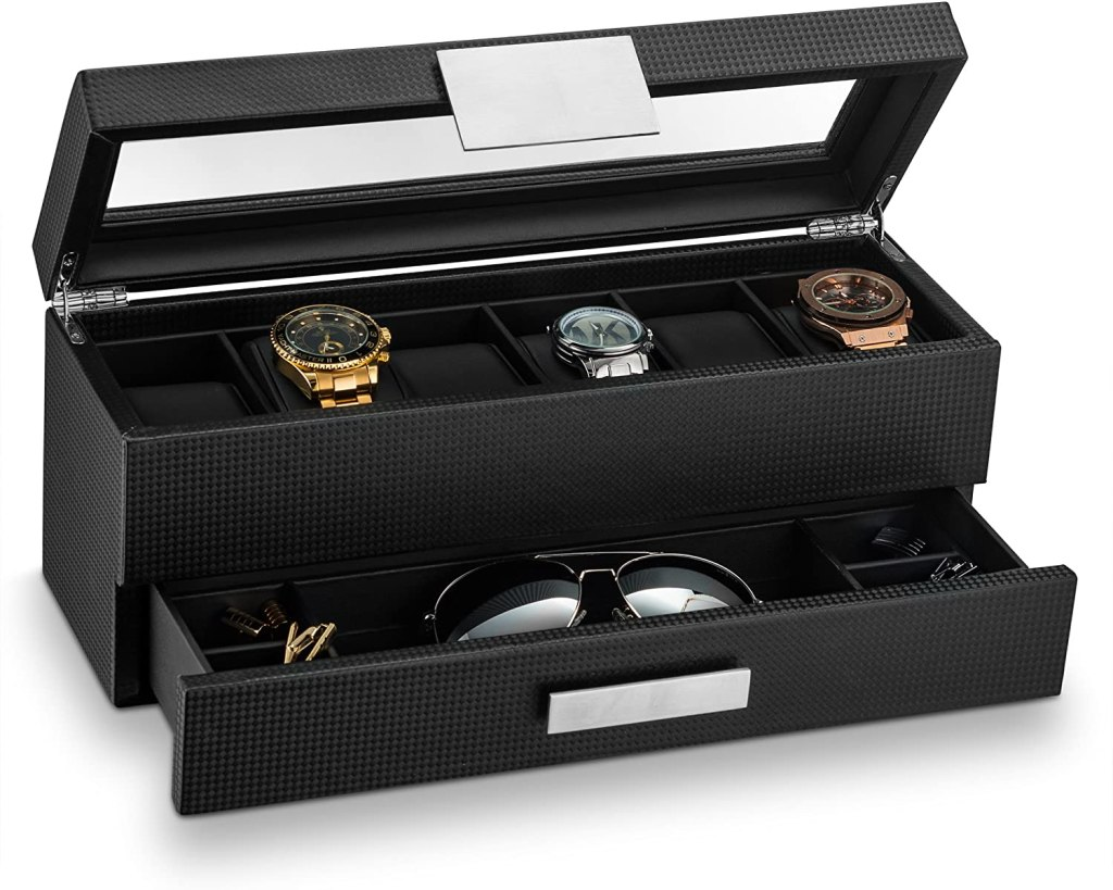 Glenor Co Watch Box with Valet Drawer