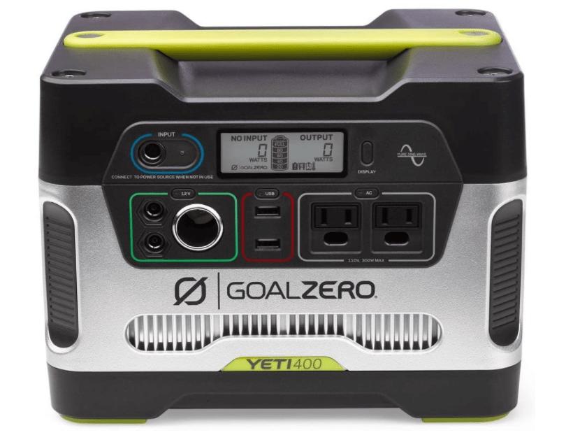 Goal Zero Yeti 400 solar powered generator