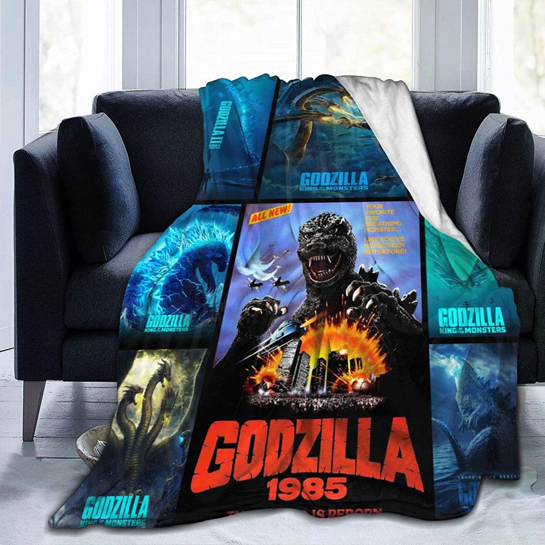 Godzilla Throw Fleece Blanket