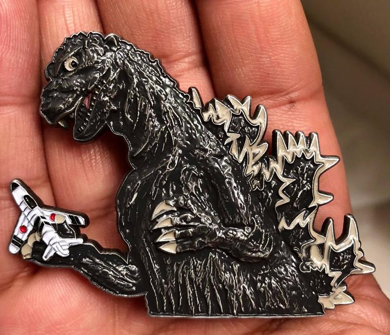 Godzilla 3D Pin