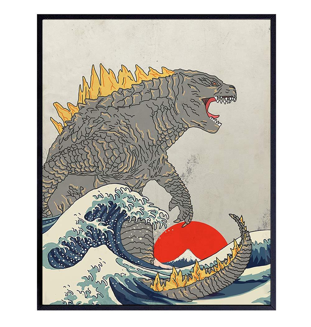 Godzilla Great Wave Off Kanagawa Poster