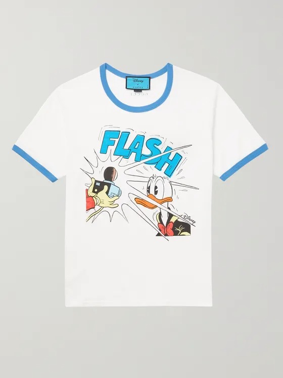 Gucci-Disney-Slim-Fit-Printed-Linen-and-Cotton-Blend-Jersey-T-Shirt