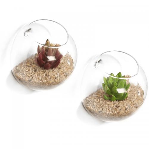 Glass wall planter