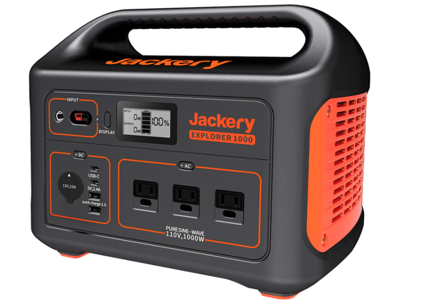 Jackery Portable solar powered generator Station Explorer 1000
