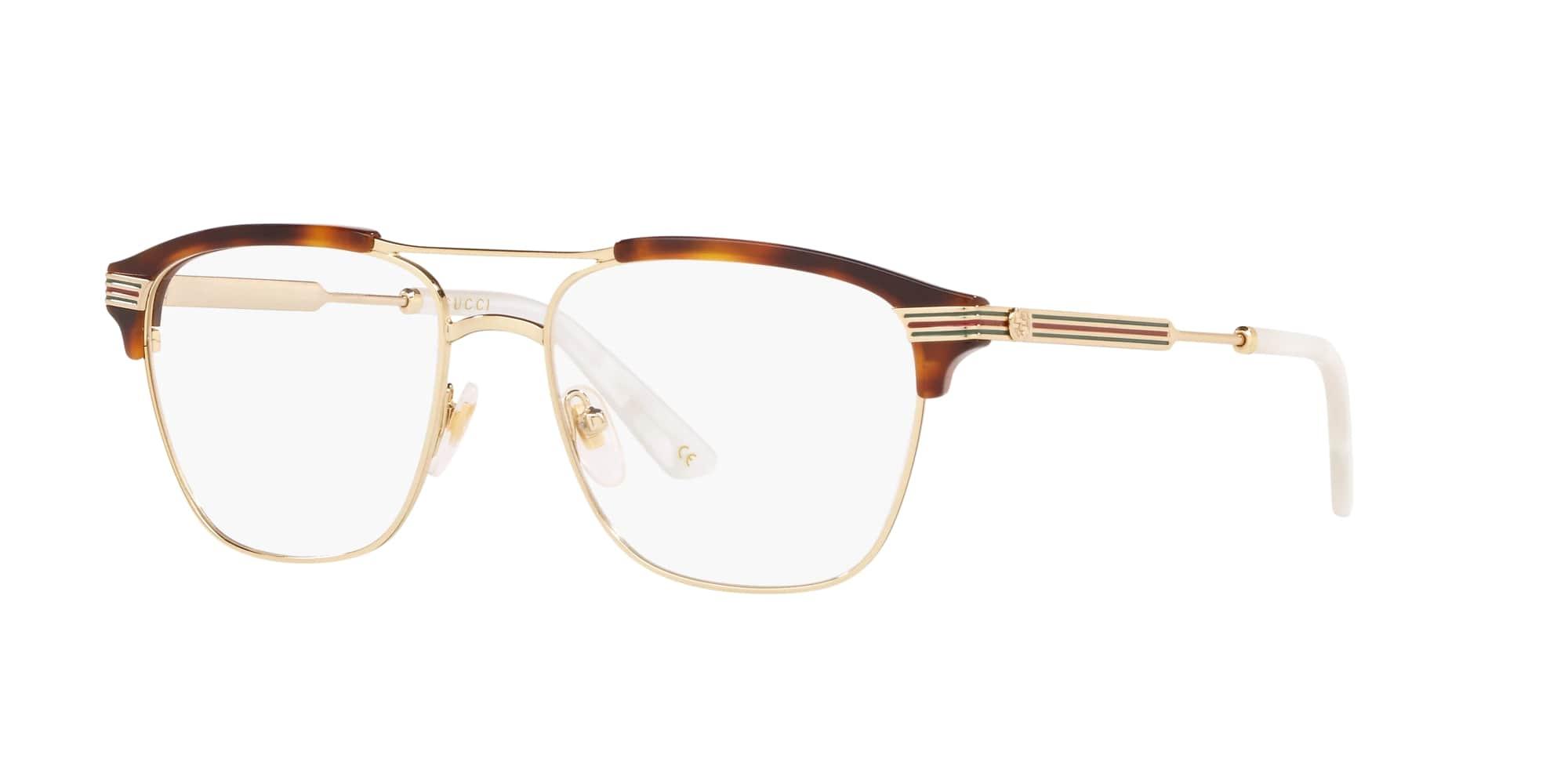 Gucci semi-rimmed eyeglasses