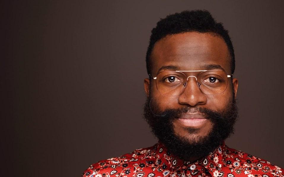 Black man wear Liingo Atlas eyeglasses