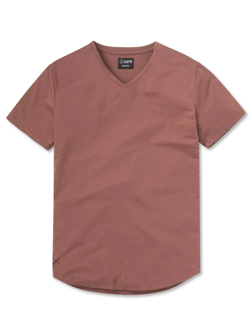Cuts Clothing V-Neck Curve-Hem