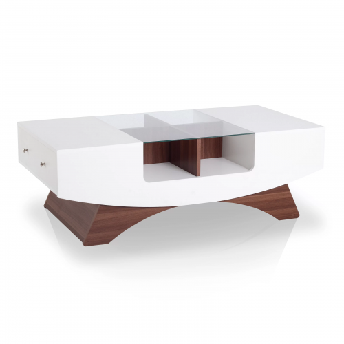 trestle coffee table with storage